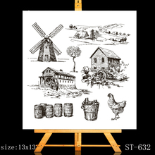 ZhuoAng Vast farm Clear Stamps/Card Making Holiday decorations For  scrapbooking Transparent stamps 13*13cm