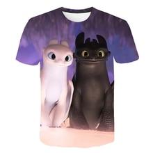 How To Train Your Dragon 3D Anime Print Tshirt Women T-Shirts Girls Top Tees Shirts Plus Size 2019 Femme Polera Mujer