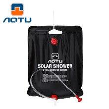 NEW 2019 Outdoor Camping 20L solar energy bath shower solar bag wild bath bag Bathing bag field цена