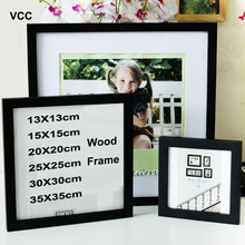 Classic Wooden Square Picture Frame Photo Plexiglass Include Poster Frames For Wall Hanging Family Gift Photo Frame(China)