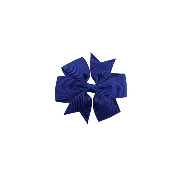 40 цветов сплошная корсажная лента банты заколки шпилька девушка бант для волос, бутик заколки для волос аксессуары для волос - Color: a04 Navy Blue