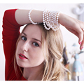 Alta qualidade colar de pérolas 7 - 8 mm pérola genuína brancas camisola cadeia para mulheres jóia da pérola