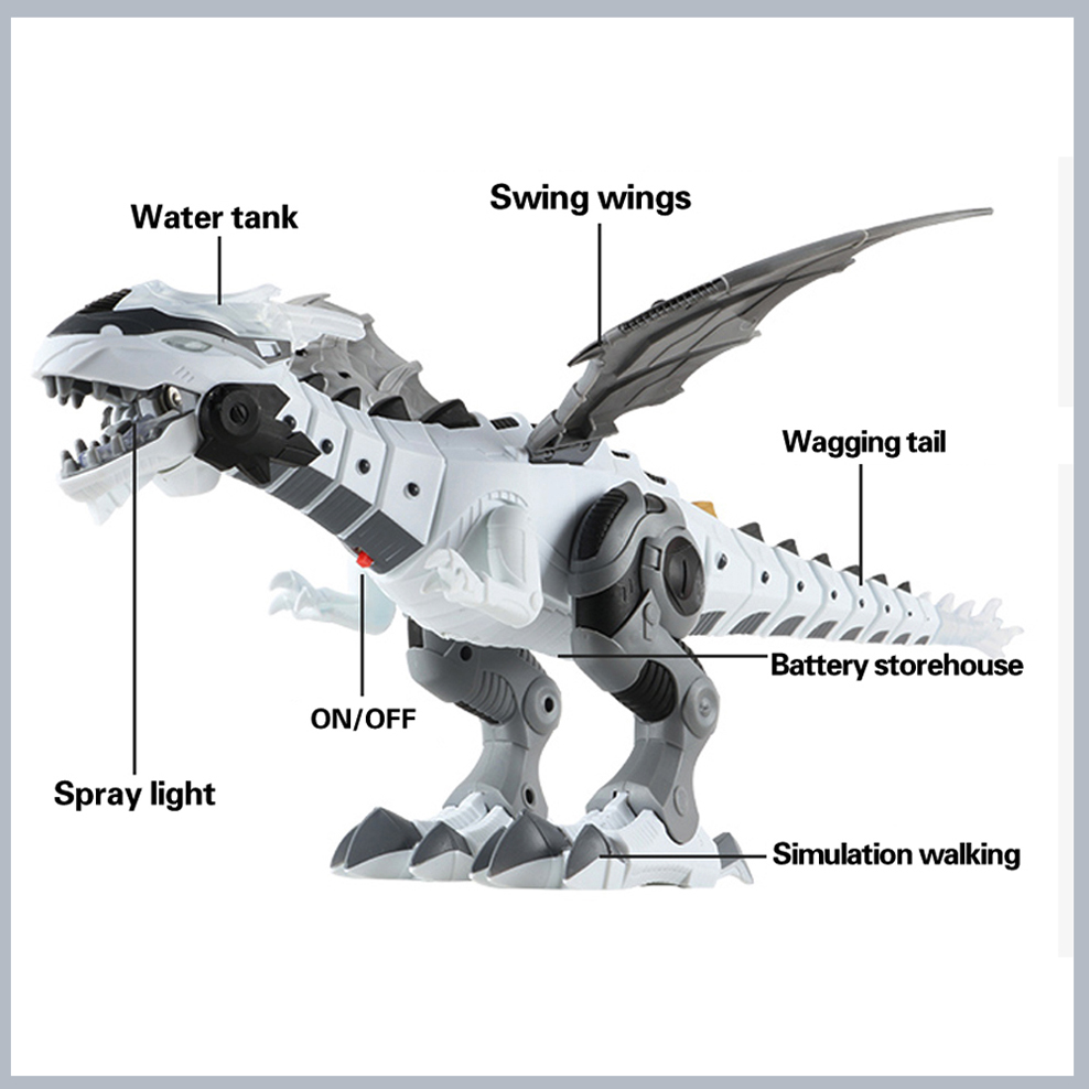 Купить с кэшбэком Electric Interactive Dinosaur Toys Speak and Walk Fire-breathing Dinosaur Children's Toys Christmas Gifts dropshipping