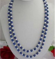 DARMOWA WYSYŁKA> J0035 >>>@@ Naturalne 8mm Niebieskie Lapis Lazuli Egipska i Prawdziwe White Pearl Naszyjnik 31