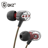 2017 Newest QKZ KD8 3.5mm In-Ear Double Dynamic Unit Driver Earphone HIFI Bass Noise Cancelling earpiece Earplug Headset Earbud