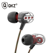 2017 Newest QKZ KD8 3.5mm In-Ear Double Dynamic Unit Driver Earphone HIFI Bass Noise Cancelling earpiece Earplug Headset Earbud