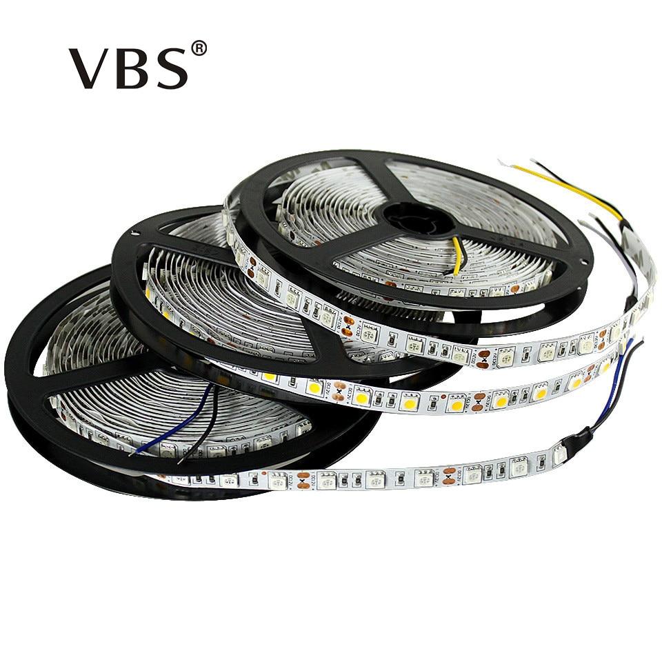 LED-strip 5050 12V Flexibel Licht 60 leds / m Wit Warm Wit Rood - LED-Verlichting