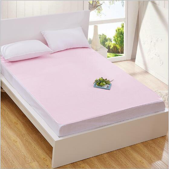 Lovely Twin Full Queen King 100% Cotton Waterproof Bed Sheets Changing Mat Mattress  Protector Cover Pad With TPU Pink M038 In Sheet From Home U0026 Garden On ...