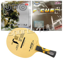 Pro Table Tennis PingPong Combo Racket Galaxy YINHE T7s Long shakehand-FL with 729 Focus III and Bomb UFO