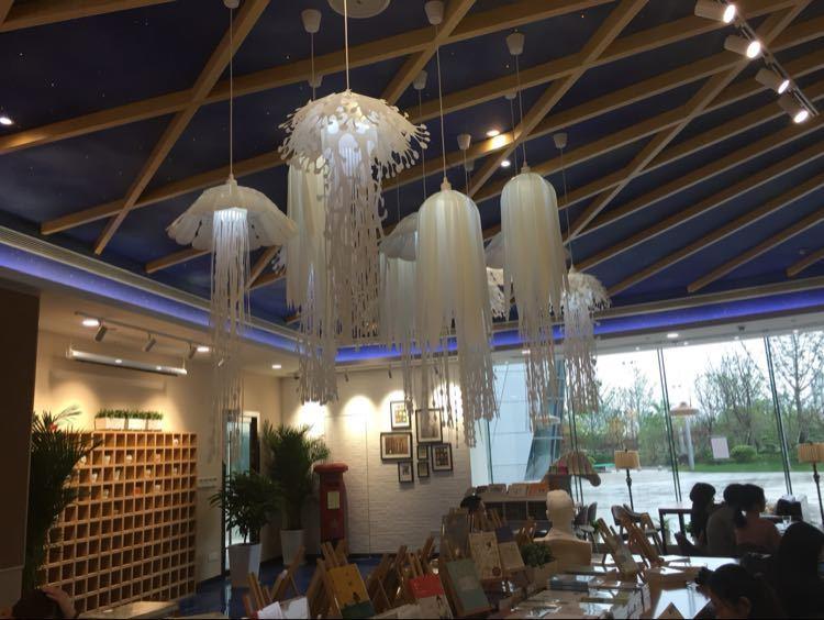 Image 5 - Modern pvc Jellyfish Pendant Light for living room Restaurant bedroom bar hanging lighting-in Pendant Lights from Lights & Lighting