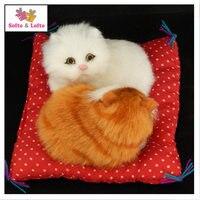 MINI Artificiales bebé gato pareja, lindo gatito kat regalo aficionados, mesa de la decoración del coche niños la fiesta de cumpleaños favor doll para niñas regalos
