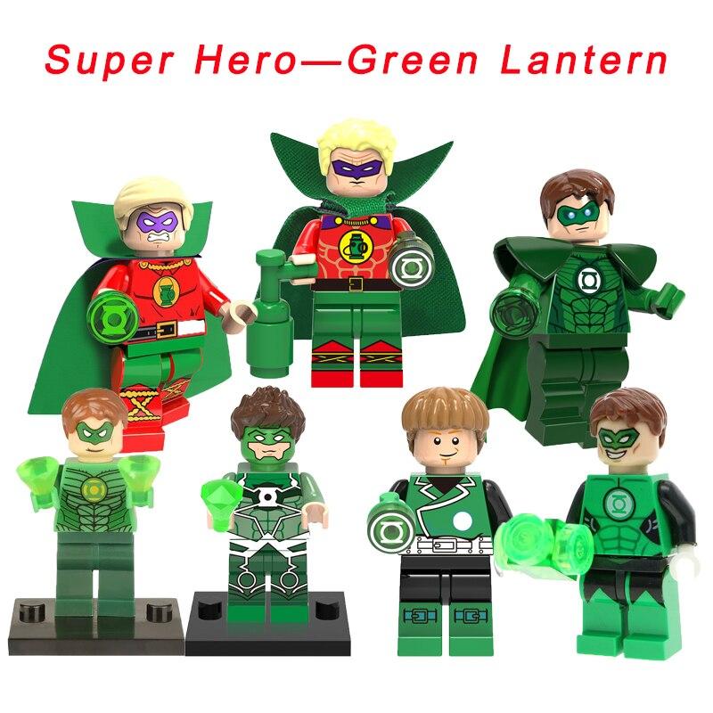 Legoelys Lantern Hal Jordan Super Heroes 76025 Batman Movie New 52 Model DIY Figure Ed Building Block Toy For Kids