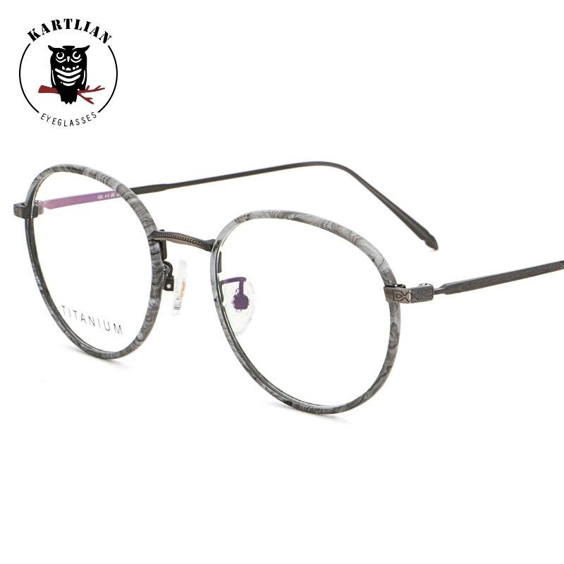 f7aaef4298 glasses men Kartlian optical frame custom prescription glasses women clear lens  eyewear lenses Titanium round eyeglasses-in Prescription Glasses from ...