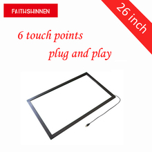 26 inch IR 6 points touch screen frame overlay multi