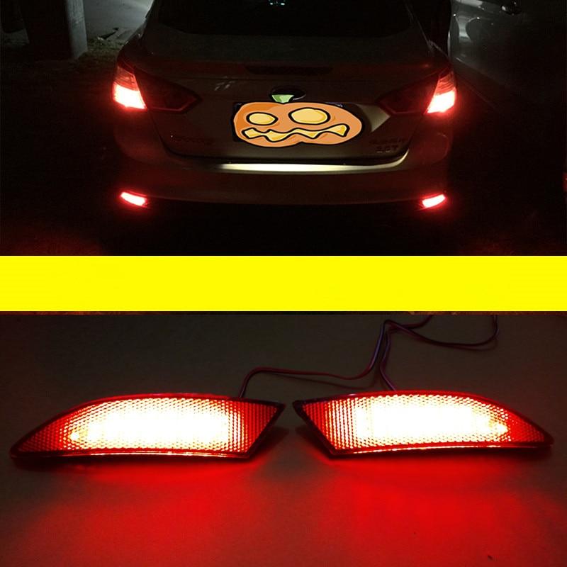 For Ford Focus 3 Sedan Hatchback Car Styling Brake LED Rear Bumper Reflector Light Warning Lamp 2012-2014 Auto Parts Newest