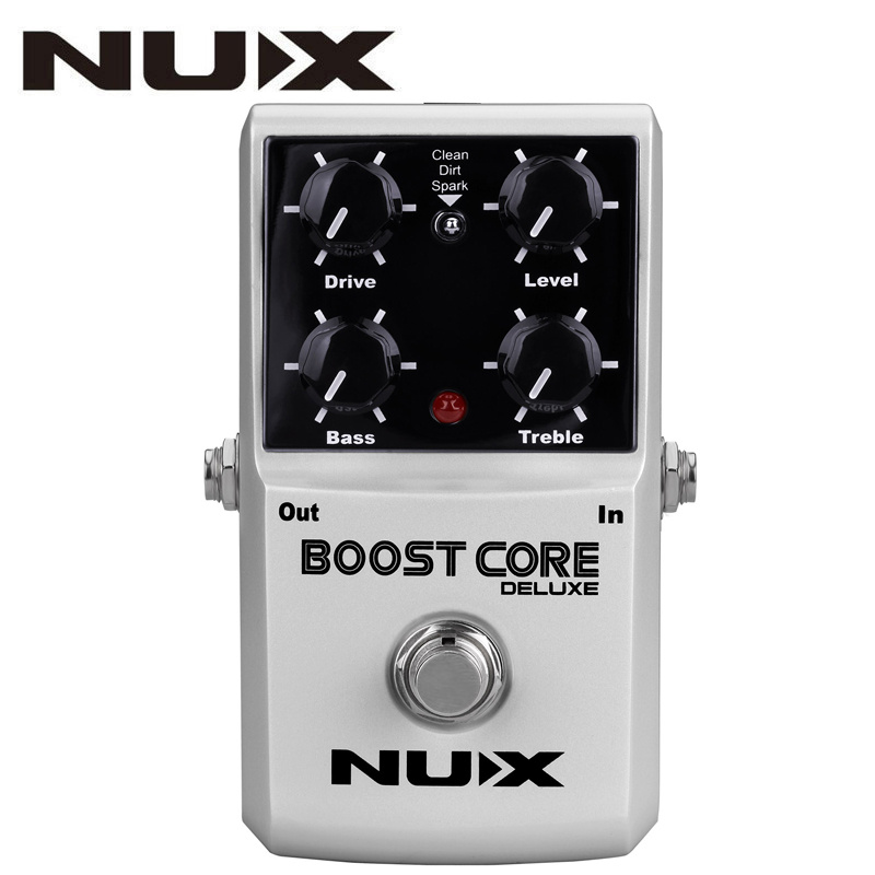 NUX Boost Core Deluxe Guitar Effects Pedal Reduce Redundant Dynamic Ensure Balanced Performance True bypass Effects Guitar Pedal nux ds 3 true bypass classic distortion effects pedal for guitar