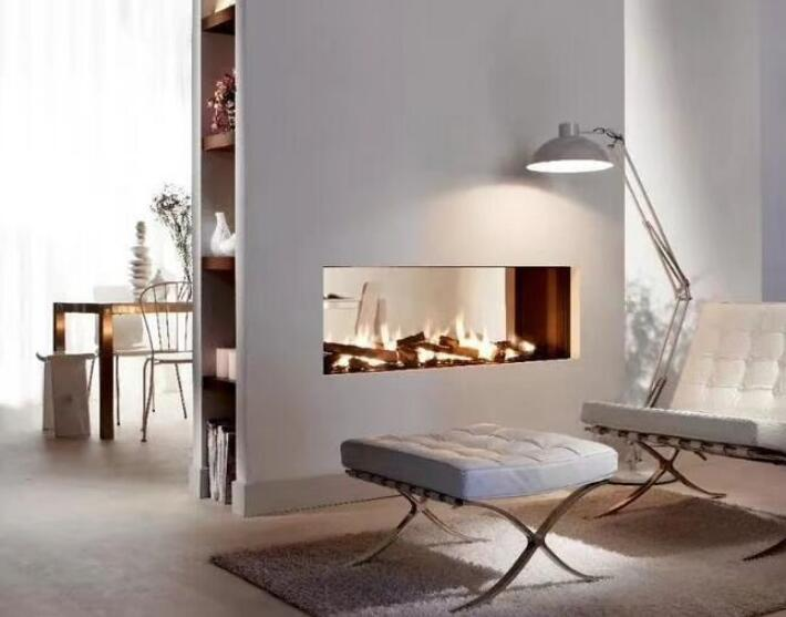 48 Inch Silver Or Black Wifi Intelligent Smart Bioethanol Fireplace Insert Burner
