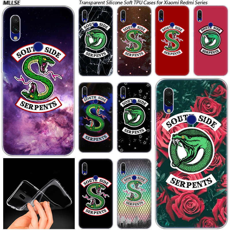 Riverdale South Side Serpents Logo Soft Silicone Case for Xiaomi Redmi K20 7 7A 5 5Plus 6 6A S2 Note 8 7 6 5 Pro