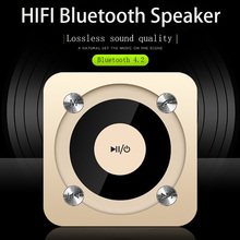MINI Smart Bluetooth speakers classic portable stereo surround sound HD call denoise LED flashing lights Voice prompt TF card hifi smart bluetooth earphones biaural stereo surround sound denoise waterproof charging box hd call biaural separation design
