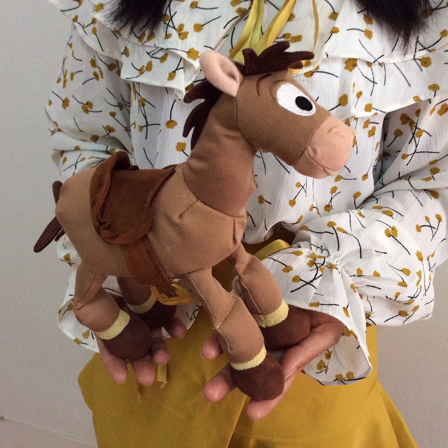 Free Shipping Original Toy Story Plush Toy 25cm=9.8inch WOODY Sheriff Bullseye Figure The Horse For Children's Gift