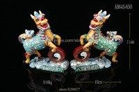 Metal Kylin Crafts Gift Chinese Kylin Pixiu Dragon Enamel Bejeweled Rhinestone Decor Trinket Jewelry Box 2 pcs to ship