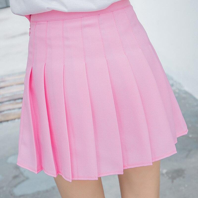 433f8d1c55 Harajuku Kawaii plisado falda mujeres falda de verano de 2019 Kpop ...