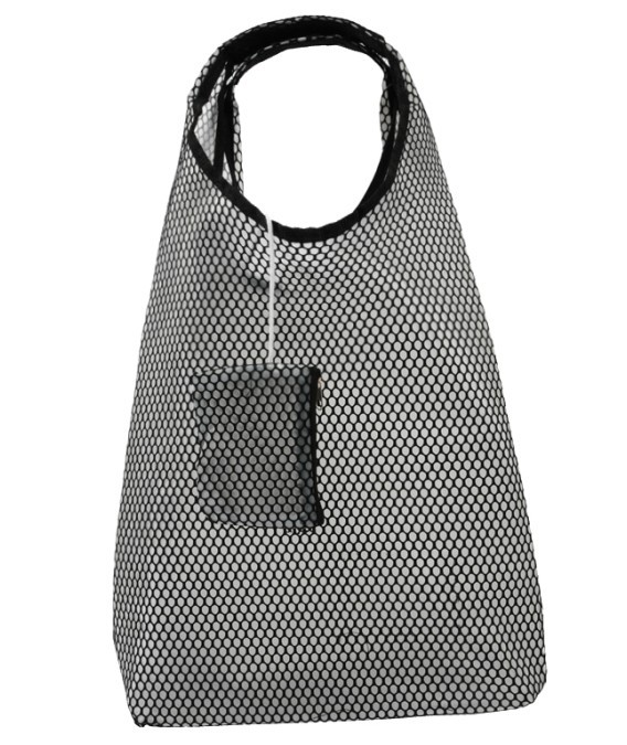 fashion large capacity coolcat mesh shopping bag shoulder bag ...