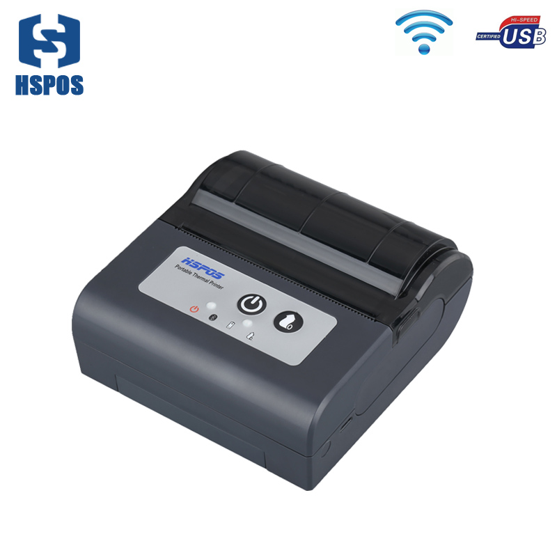 3 inch wifi and usb mini thermal printer support 2D and 1D QR CODE Printing DV7.4V easy to carry used in post supermarket direct thermal printing label code printer