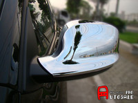 FOR BMW X3 F25 2011 2012 2013 ABS Chrome Exterior Side Mirror Rearview Cover Trim 2pcs Glossy