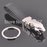 Fashion Creative High Grade Leather Car Keychain Novelty Metal Trinket Chain Ring Holder Souvenir Ad Gift