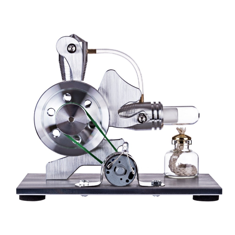 UTOYSLAND Stirling Squirrel Model Glass Hot Cylinder Single Lamp Single Cylinder External Combustion Thermal Energy Steam EngineUTOYSLAND Stirling Squirrel Model Glass Hot Cylinder Single Lamp Single Cylinder External Combustion Thermal Energy Steam Engine