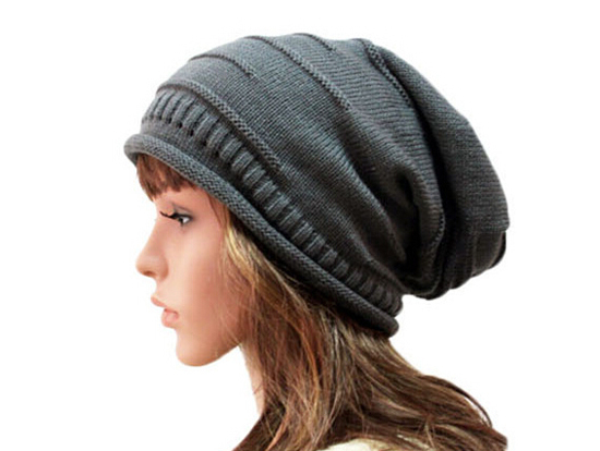 Wholesale 10pcs Classic Winter Mens Beanies Womens Acrylic Slouchy Beanie  Hat Men Large Oversized SKullcap Knitting Baggy Hats 4428bf5cfa2