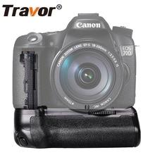 Travor Вертикальная Батарейная ручка для камеры Canon 70D 80D DSLR как BG-E14 работает с LP-E6 батареей