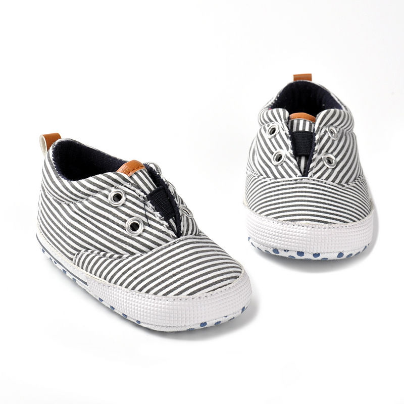 Hot sell New Spring Fashion Striped Style Newborn Baby First Walkers Cotton Infant Toddler Baby Moccasins Baby Boys Shoes