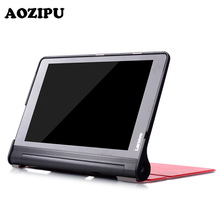 10.1 Inch Tablet Protective Cover for Lenovo Yoga Tab3 Plus 10.1 YT-X703 PU Leather Case for Lenovo Yoga TAB 3 X90F/X90L +Film