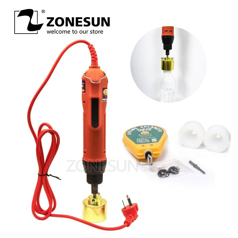La Machine de capsulage manuelle de ZONESUN couvre la Machine de vissage la bouteille ronde en plastique la Machine de capsulage de bouteille 10-30 MM