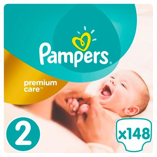 Подгузники Pampers Premium Care 3-6 кг, 2 размер, 148 шт.