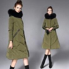 2016 Winter Jacket European Style Women Winter Jacket Women Down Jacket Coat Woman Hot Fox Coat Black Amy Green Down Coat Women