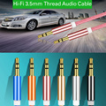 New Aux Cable 3.5mm to 3.5 mm Jack Audio Cable Thread Bradied Male to Male Stereo Auxiliary Cord for Phone Car Speaker