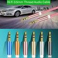 Nueva Aux Cable de Hilo de 3.5mm a 3.5mm Cable de Audio Jack Bradied Macho a Macho Estéreo Cable Auxiliar para Altavoz Del Teléfono Del Coche