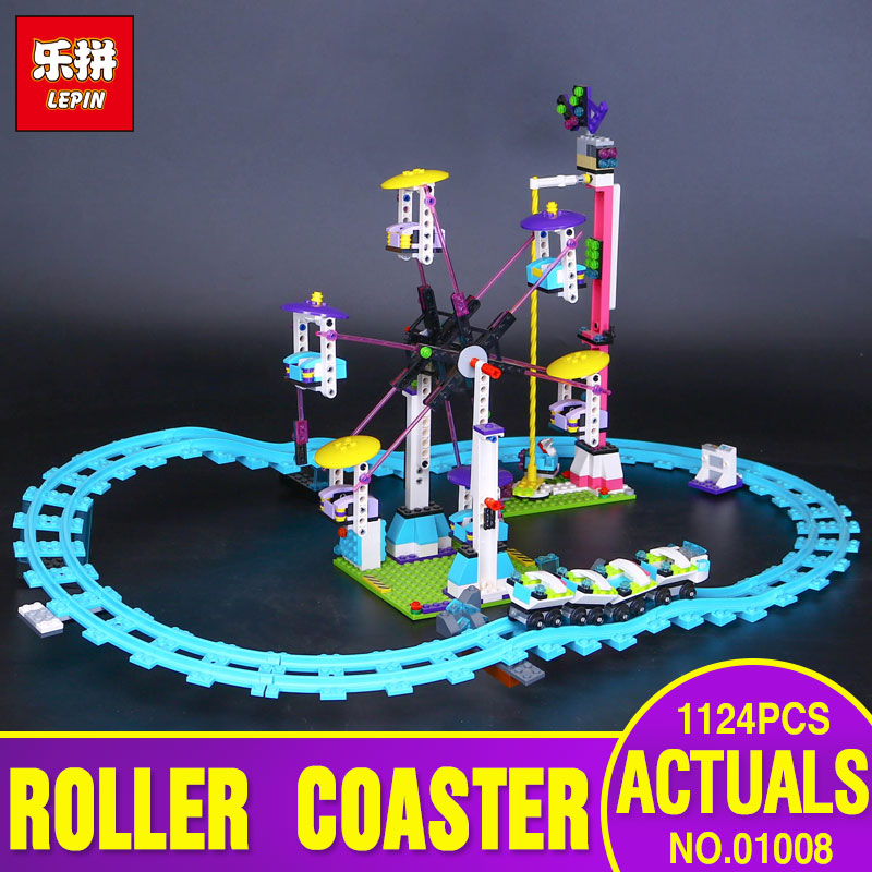 цена на LEPIN 01008 New Amusement Park Coaster Building Kits Girl Blocks Bricks Toys Compatible Gift  4113 for children britheday gift