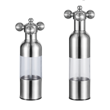 Water-tap 304 stainless steel hand pepper grinder sesame seasoning grinding powder bottle spice kitchen tools