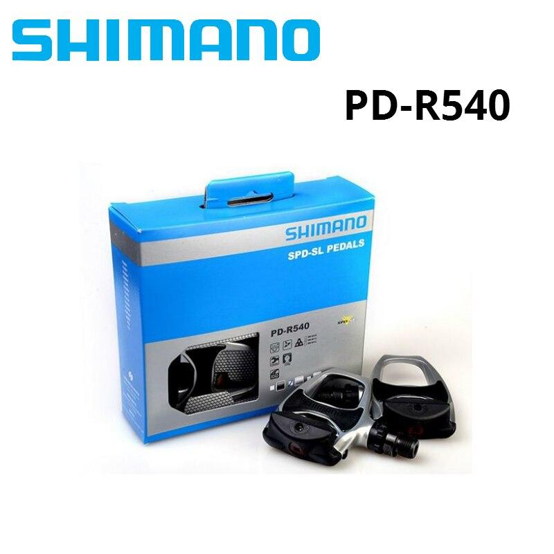 Shimano PD R540 Auto-Verrouillage SPD Pédales Composants En Utilisant pour Vélo de Course Route Vélo Pièces r540 pédale Avec SH11 crampons à l'intérieur