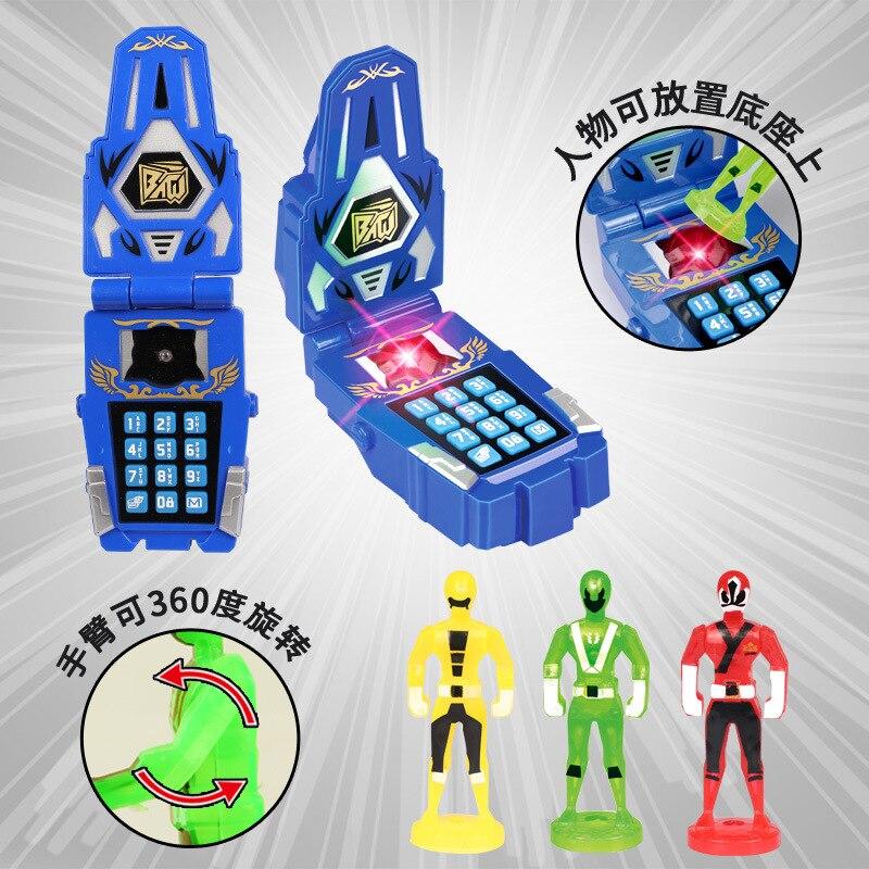 Anime Power Ranger Super Action Figures Battle Power Ranger Building Mobile Phone Music Model Kid Gift Toy все цены