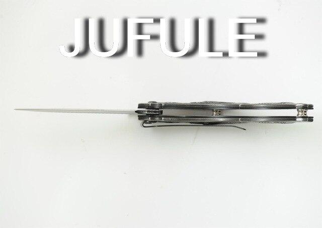 JUFULE Crusader carbon steel folding camping hunt pocket Survival EDC tool Tactical outdoor flipper Utility dinner kitchen knife 5