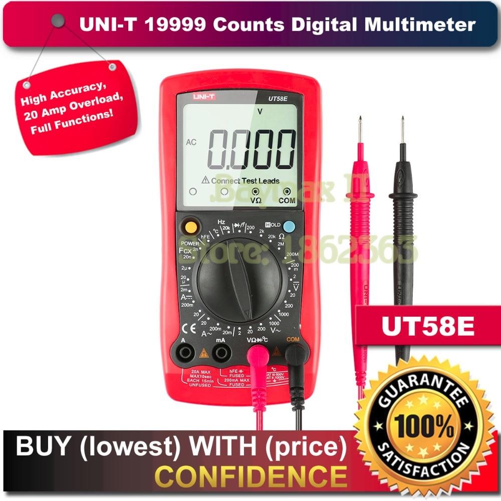 UNI-T UT58E 19999 Counts LCD Digital Multimeter AC/DC Voltmeter Amp Ohm Capacitance Tester LCR meter мультиметр uni t uni t ut71b alicate amperimetro ac dc