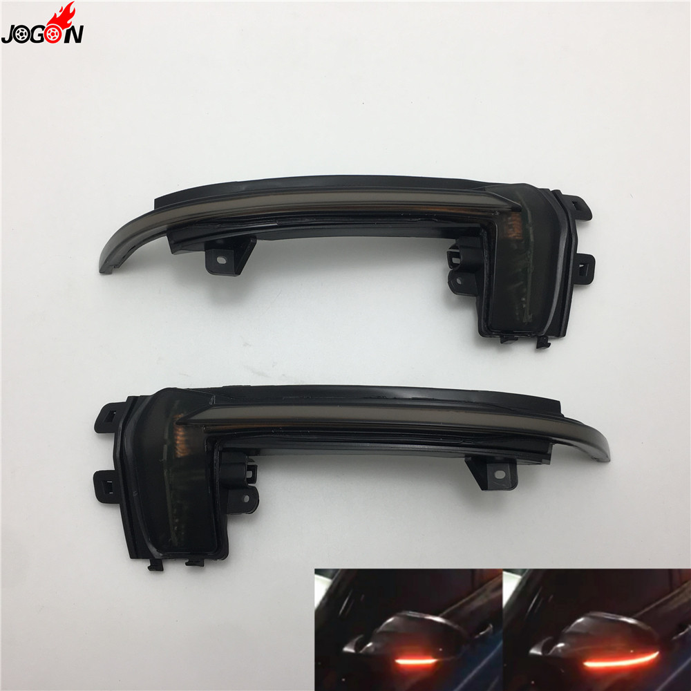 LED Rearview Mirror Indicator Blinker Light Dynamic Turn Signal For Audi A3 S3 8P 10 12