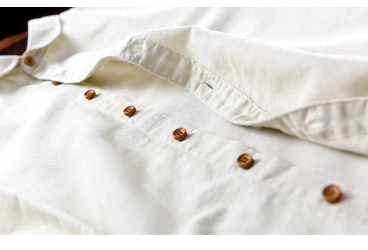 Suehaiwe's Premium Casual Linen Dress Shirt hommes à manches longues - Vêtements pour hommes - Photo 5