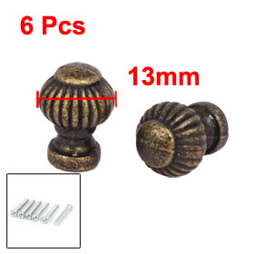 Uxcell Hot Sale Wooden Box Gift Case 13mmx19mm Metal Pull Handle Knobs Bronze Tone 6pcs Cabinet Handle Replace with Some Screws