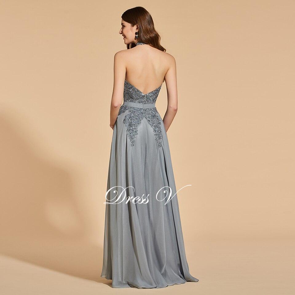 979baa58d1b Платье светло-серое длинное платье для выпускного вечера без рукавов  простое ТРАПЕЦИЕВИДНОЕ ПЛАТЬЕ с аппликацией с открытой спиной вечернее  платье для ...